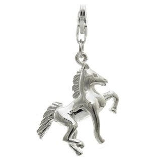 Silver Horse Clip on Charm