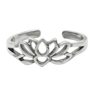 925 Silver Lotus Flower Toe Ring