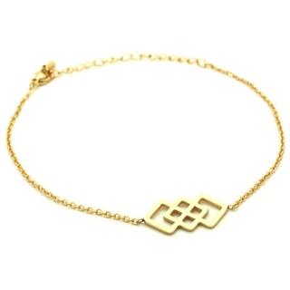 Gold Geometric Interlinking Bracelet