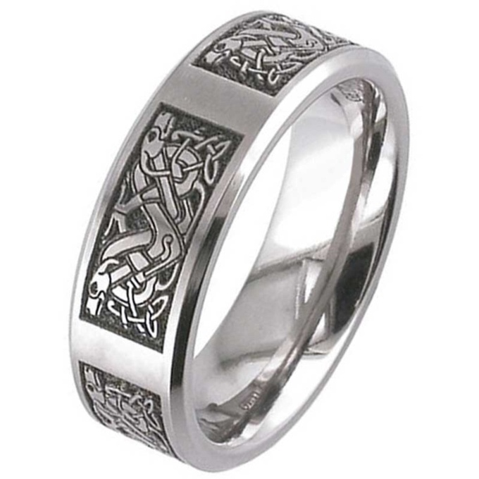 celtic wedding ring shiny comfort fit rings knot trinity rohan white