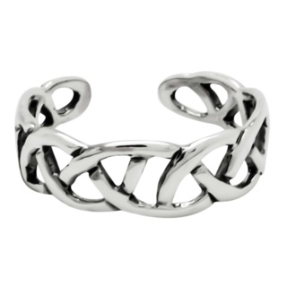 925 Silver Woven Celtic Toe Ring