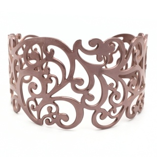 Intricate Stainless Steel Coffee Cuff
