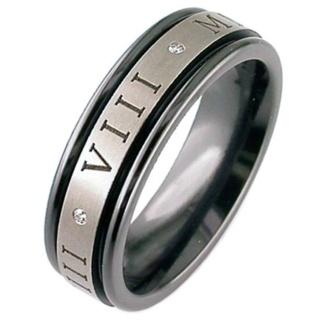 Black Customised Zirconium Ring