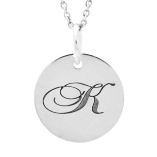 Personalised Silver Disc Initial Necklace