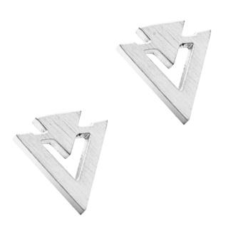 Silver Plated Geometric Earrings