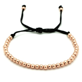 Adjustable Rose Gold Beaded Bracelet
