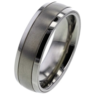 Memorial Ashes Titanium Ring with Chamber