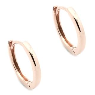 Rose Gold & Silver Hoop Earrings