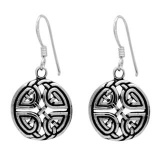 925 Silver Celtic Drop Earrings
