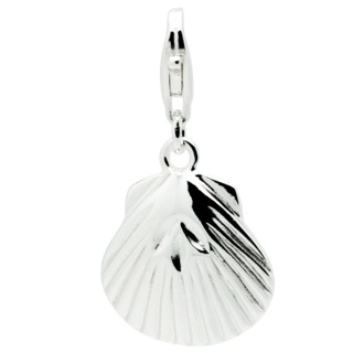 Silver Seashell Clip On Charm