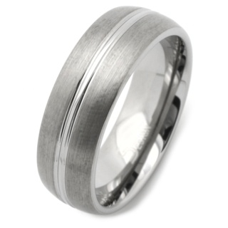 8mm Dome Profile Tungsten Carbide Wedding Band Ring