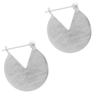 Satin 925 Silver Circle Earrings