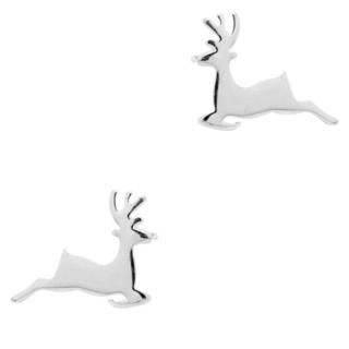 Silver Plated Deer Earrings