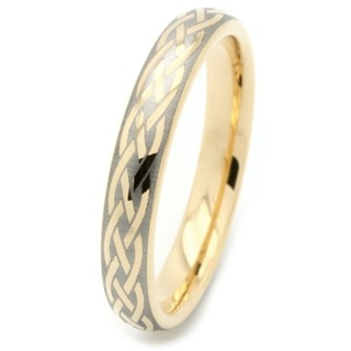 Gold Tungsten Celtic Ring