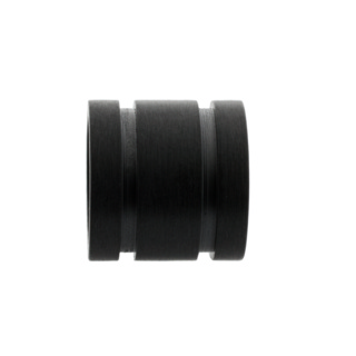 Matt Black Ridged Titanium Bead