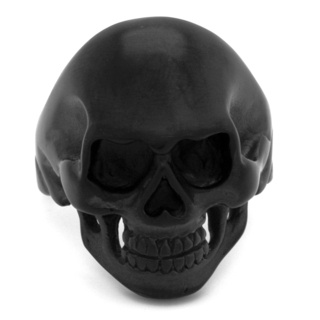 Black Stainless Steel Skull Ring
