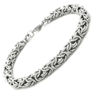 Stainless Steel Byzantine Chain Bracelet