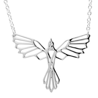 Silver Flying Bird Necklace