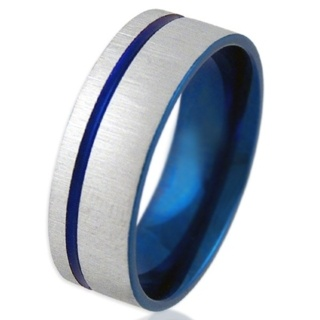 Freedom Blue Steel Ring