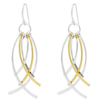 925 Silver & Gold Drop Tassel Earrings