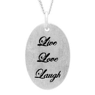 Silver Live Love Laugh Necklace