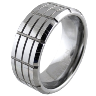 The Cut Tungsten Ring