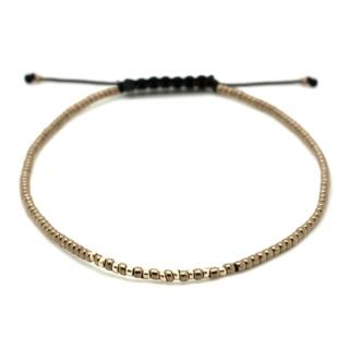 Adjustable Miyuki & Gold Plated Bracelet