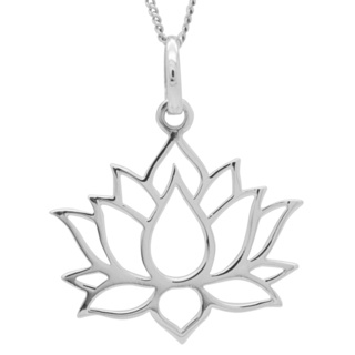 925 Silver Lotus Flower Necklace