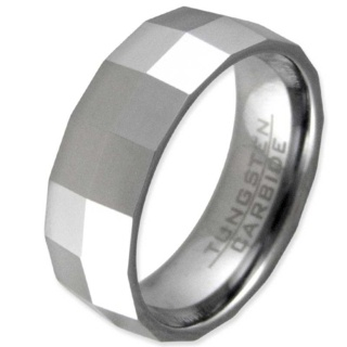 Facets Tungsten Ring