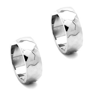Facetted Titanium Huggie Earrings