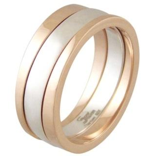 Praise Rose Titanium & Silver Ring