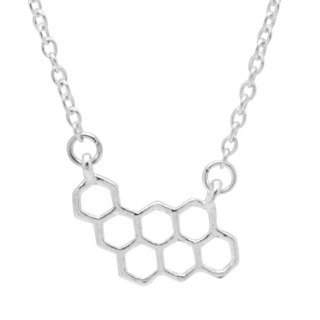 Silver Plated Honeycomb Necklace