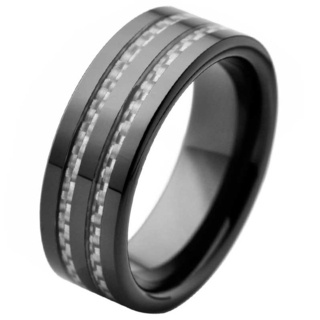 Satisfaction Black Ceramic Ring
