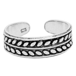 925 Silver Leaf Toe Ring