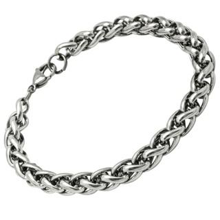 Stainless steel 8mm Wheat Chain Bracelet
