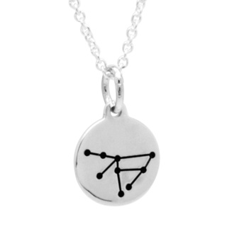 925 Silver Zodiac Capricorn Constellation Necklace