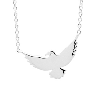 925 Silver Bird Choker Necklace