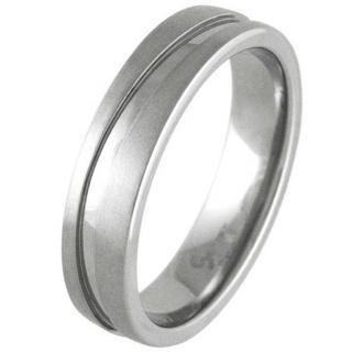 Swell Satin Titanium Ring