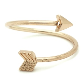 Gold Tone Arrow Ring