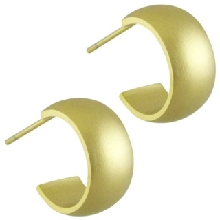 Steel Gold Hoop Earrings