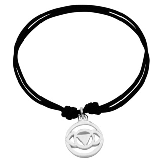 Adjustable Silver Brow Chakra Bracelet