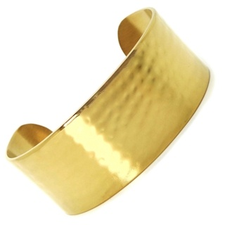 Hammered Gold Stainless Steel Bangle