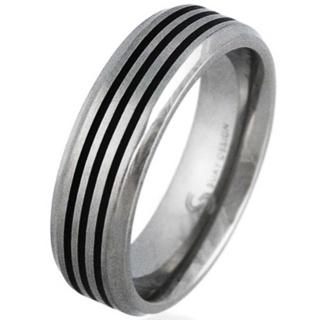 Graphic Titanium Ring