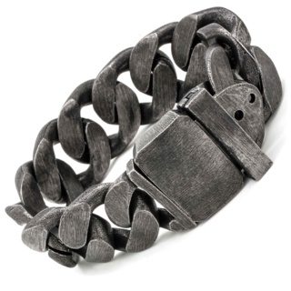 Chunky Black Stainless Steel Chain Bracelet