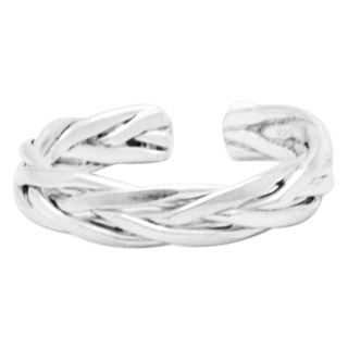 Woven Silver Toe Ring