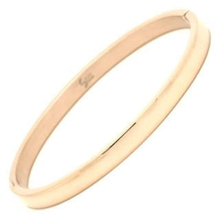 Polished Rose Gold Steel Bangle