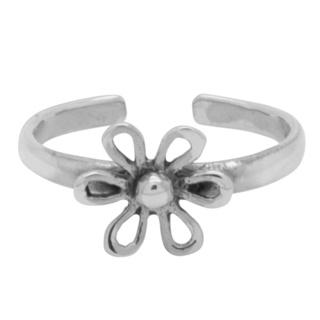 925 Silver Flower Toe Ring