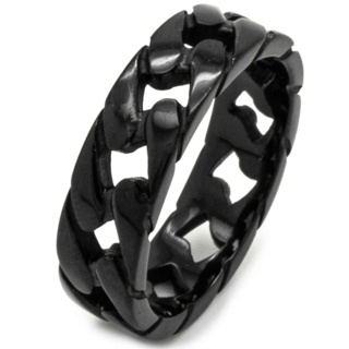 Black Stainless Steel Chain Ring