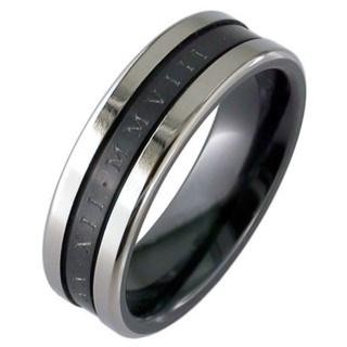 Custom Date Zirconium Ring