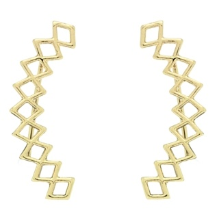 Gold Tone Geometric Ear Crawler